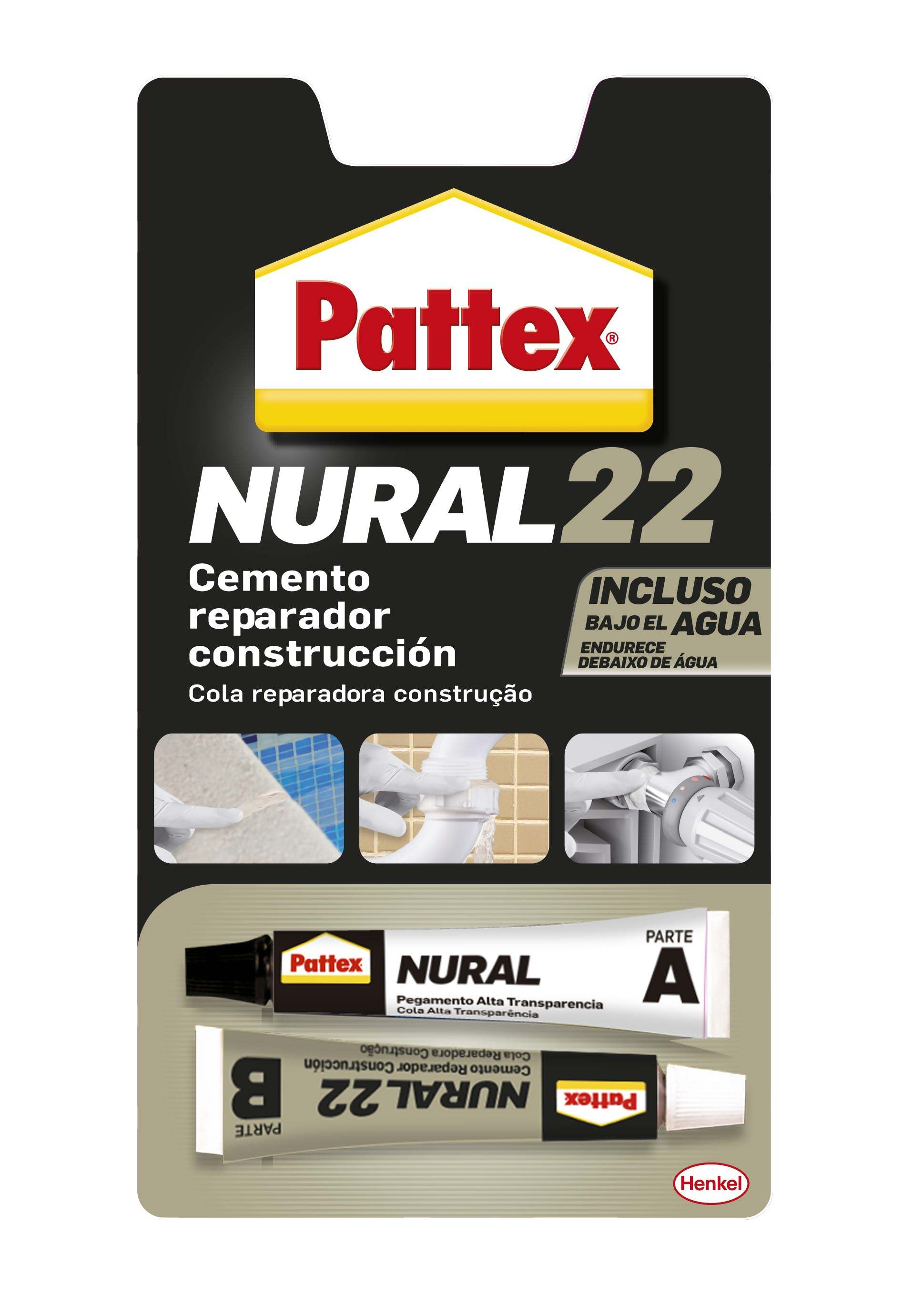 CEMENTO ADHES. MATERIALES HUMEDOS 22 ML NURAL-22 PATTEX